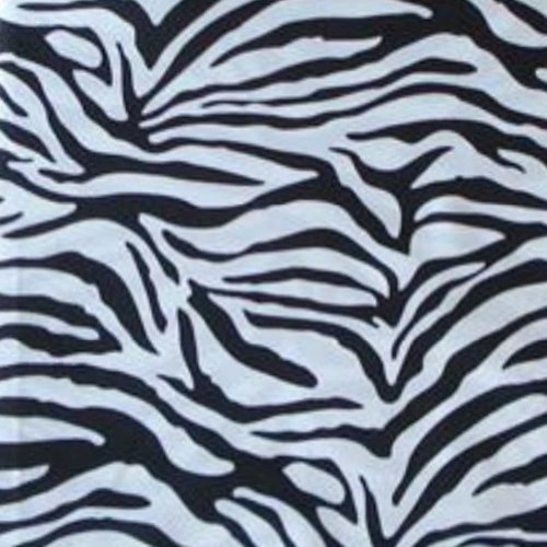 Black White Microfiber Zebra XL Twin Sheet Set