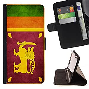 Momo Phone Case / Flip Funda de Cuero Case Cover - Nación Bandera Nacional País Sri Lanka; - Samsung Galaxy S3 MINI 8190