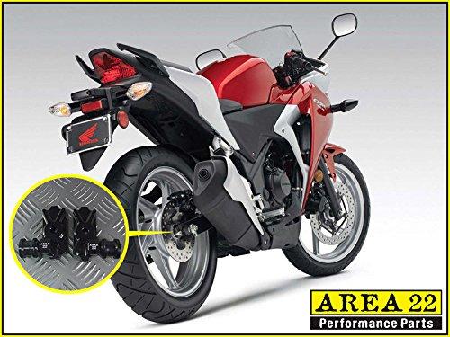 Black Area 22 CNC Swingarm Bobbin Adapters Mounts For Honda CBR250R CBR300R