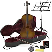 Student Full Size Cello with Case Antique + Beginner Pack