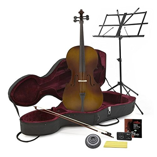 Cello in 4/4-Größe in Antique Fade - mit Koffer und Anfängerausstattung
