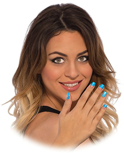 Rubie's Marvel Women's Universe American Dream Nail Stickers, Multi, One Size -