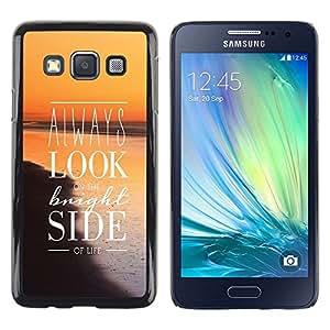 Stuss Case / Funda Carcasa protectora - Look Bright Side Sunset Orange Positive Sea - Samsung Galaxy A3 SM-A300
