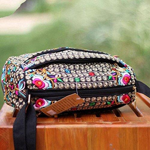 Embroidery Handbag Ethnic Kylin Bag Messenger Tote Express C Canvas Bag Shoulder Women twxwFqEnT