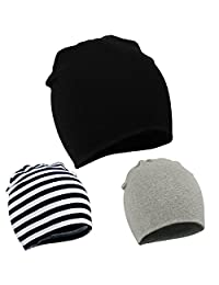 American Trends Unisex Cotton Beanie Hat Girl Boy Toddler Kids Children Soft Cap(3 PCS-Mix Color2)