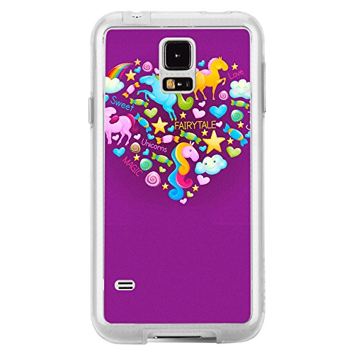 Image Of Fairytale Elements within a Heart on Purple Samsung Galaxy S5 Phone Case