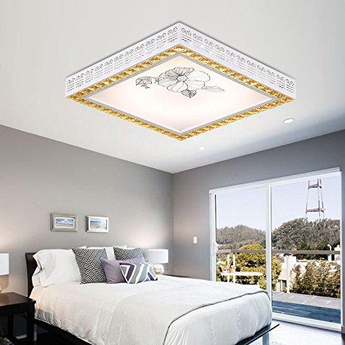 Luz de techo de hierro_luz led rectangular nórdicos crystal ...
