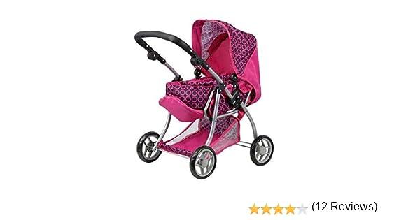 Amazon.es: Doll Stroller - Carro de muñecas 3 en 1 - Transformable en sillita - Capazo extraible - manillar regulable en altura: 30 - 62 cm - plegable.
