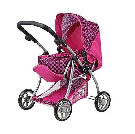 Doll Stroller - Carro de muñecas 3 en 1 - Transformable en sillita - Capazo extraible