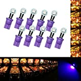 PA 10PCS #555 T10 1SMD LED Wedge Pinball Machine Light Side View Bulb Purple-6.3V