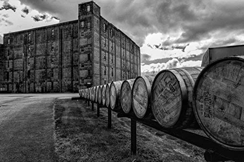 Fine Art Print of Buffalo Trace Bourbon Warehouse, Various Sizes, Canvas and Photo Prints, Kentucky Artwork, Great for Home and Bar Decor