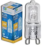Long Life Lamp Company 10 x G9 25 W Clear Halogen Lamps Light Bulbs, 240 V