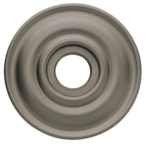 Baldwin 5048.IDM Single Estate Rosette for Dummy Functions, Antique - Door Nickel Passage Estate