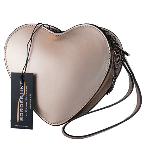 Italy HEART Real Or BORDERLINE Pochette en in cuir 100 Made qFw8tZ7S