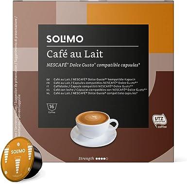 Marca Amazon Solimo Dolce Gusto Café Au Lait 96 Cápsulas 6 X 16 Amazon Es Alimentación Y Bebidas