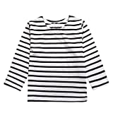 Software : Clearance! Napoo Toddler Kids Baby Boy Girl Long Sleeve Striped Print T-shirt Tops (3T, Gray A)