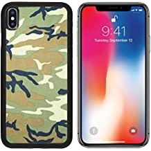 MSD Premium Apple iPhone X Aluminum Backplate Bumper Snap Case Military texture camouflage background IMAGE 19282067