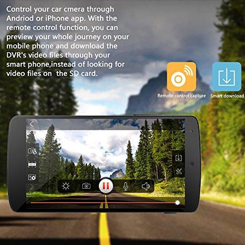 TEYES WiFi Car Dash Cam FHD 1080p 140 Degree Wide Angle