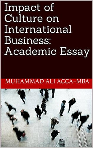 Health Essay Example Impact Of Culture On International Business Academic Essay By Accamba  Muhammad What Is An Essay Thesis also Topics For Synthesis Essay Amazoncom Impact Of Culture On International Business Academic  Business Essays Samples