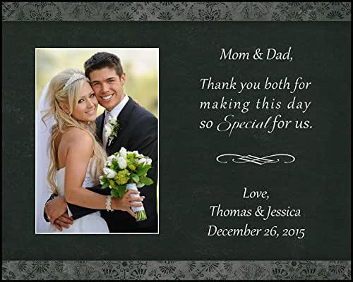 Amazoncom Parent Thank You Wedding Picture Frame Mom And Dad
