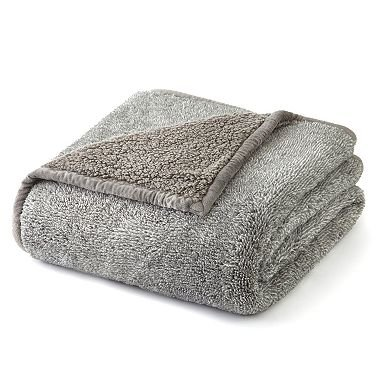 Cuddly Cabin Throw Blanket. Memberu0027s Mark Over Sized Cozy Throw (Light Grey  Heather)