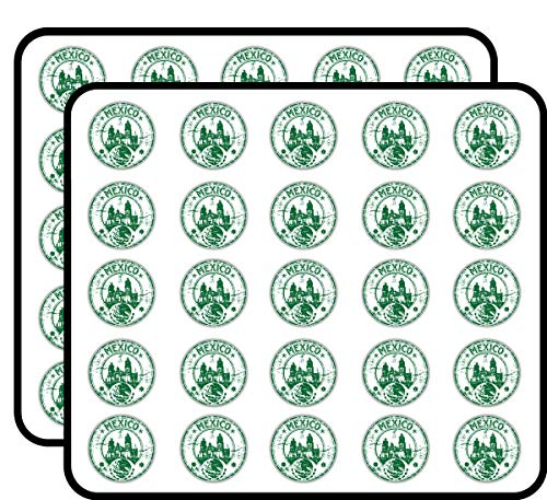 Mexico Grunge Rubber Travel Stamp Art Decor Sticker for Scrapbooking, Calendars, Arts, Kids DIY Crafts, Album, Bullet Journals 50 Pack
