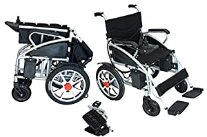 2018 New Comfy Go Lightweight Foldable Lead Acid Battery Electric Power Wheelchair by Buvan Corp, Inc