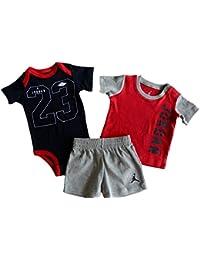 Nike Air Baby Boys' 3 Pc Short Sleeve Bodysuit, T-Shirt, Shorts Set