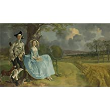 High Quality Polyster Canvas ,the Best Price Art Decorative Canvas Prints Of Oil Painting 'Thomas Gainsborough Mr And Mrs Andrews ', 30 X 52 Inch / 76 X 132 Cm Is Best For Bathroom Gallery Art And Home Artwork And Gifts