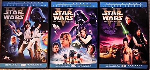 Star Wars 6-DVD Trilogy Set Episodes IV V VI Full Screen Limited Editions
