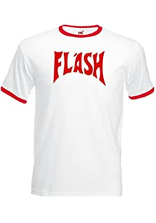 Flash Gordon T-camiseta de manga corta de nuevo con etiquetas de ciervo en pared de Fancy Queen Retro e instrucciones para hacer vestidos Freddie Mercury 80S S-XXL: Amazon.es: Ropa y accesorios