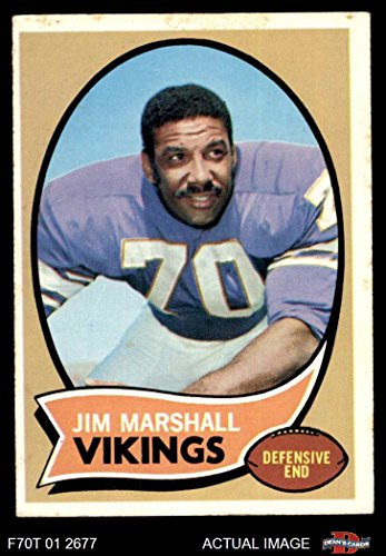 1970 Topps # 213 Jim Marshall Minnesota Vikings (Football Card) Dean's Cards 4 - VG/EX Vikings
