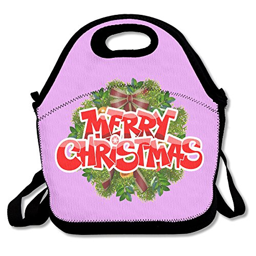 Christmas Lunch Bag Lunch Boxes, Waterproof Outdoor Travel Picnic Lunch Box Bag Tote With Zipper And Adjustable Crossbody (Kanye West Costume Teacher)