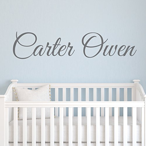 "Boys Nursery Personalized Custom Name Vinyl Wall Art Decal Sticker 36"" W, Boy Name Decal, Boys Name, Nursery Name, Boys Name Decor Wall Decals, Boy"