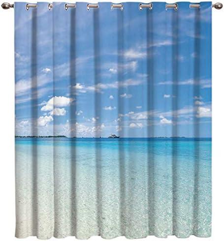 Cloud Dream Home Summer Beach Darkening Blackout Window-Treatment-Panels