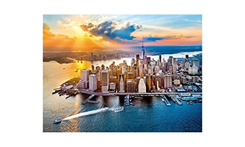 New York Sunset Jigsaw Puzzle, 500 Pieces, Made in Italy