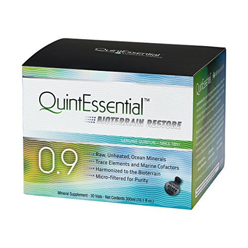 Bio-terrain Restore 0.9 by QuintEssential Minerals, 30 vials - 1 Month Supply - Living Marine Plasma