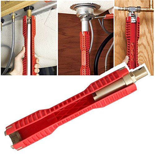 Hitommy 290X52Mm Socket Wrench Double Head Wrench Faucet Sink Installer Red by Hitommy