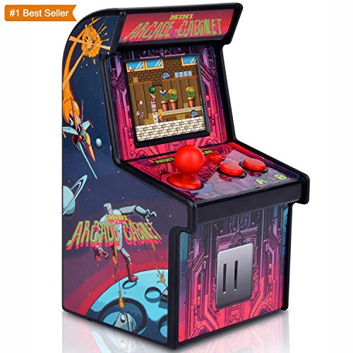 Funderdome Battery Powered Mini Arcade Game, Arcade Machine, Retro Tiny Video Game Arcade Cabinet, Portable Electronic Handheld Gaming Console for Kids with 200 Classic Video Games (York New Electronic Puzzle)