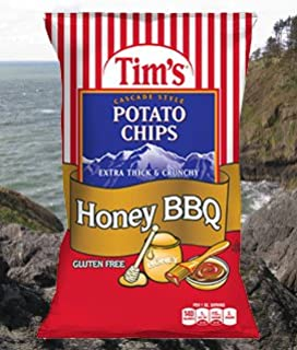 product image for Tim's Chips, Honey Bbq. 8 Ounce (Pack of 2)