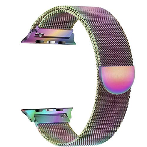 Cocos Compatible Apple Watch Band Mesh Milanese Loop Stainless Steel Compatible iWatch Band Compatible Apple Watch Series 4 (40mm 44mm) Series 3 2 1 (38mm 42mm) from Cocos