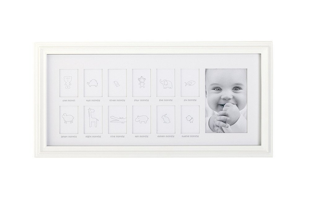C.R. Gibson First Year Timeline Photo Frame, White