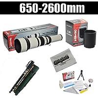 Opteka 650-2600mm High Definition Telephoto Zoom Lens with 67 Monopod Kit for Olympus EVOLT E-5, E-520, E-510, E-500, E-450, E-420, E-410, E-400, E-330 and E-300 Digital SLR Cameras