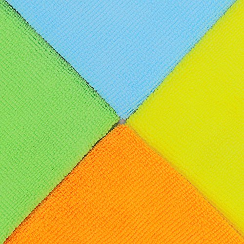 20 Pack 4 Colors SimpleHouseware Microfiber Cleaning Cloth