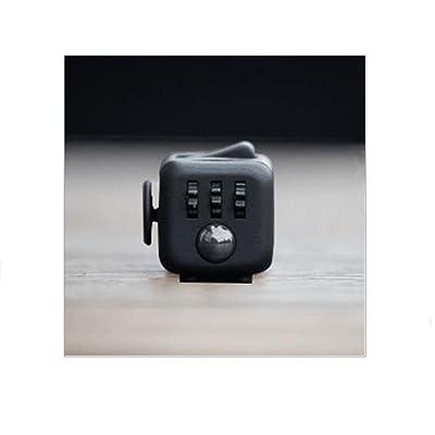Fidget Cube Soulage le stress et l'anxiété pour les enfants et les adultes, anti-irritability Concentré Soulage la pression Dés votre attention Rubik's Cube 9Style (Noir)