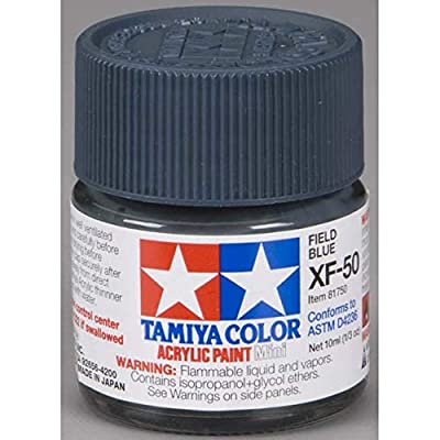 TAMIYA 81750 Acrylic Mini XF50 Field Blue 1/3 oz: Toys & Games