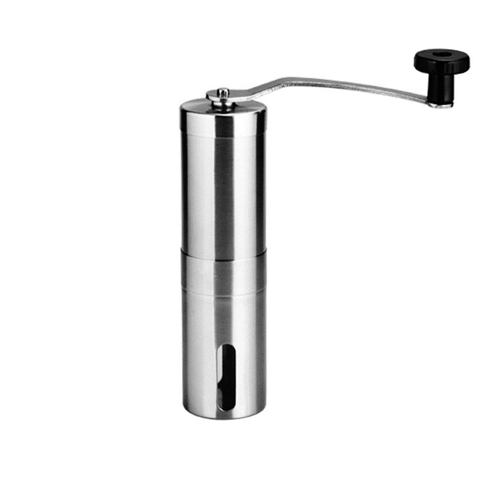 NBSXR Manual Portable Stainless Steel Coffee Grinder, with Adjustable Grind Selector Settings, Quiet Grinding, Great for Camping, Travel, Picnics