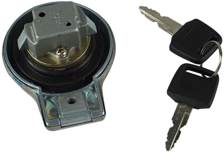 Xiteman Fuel Gas Tank Cap Cover Keys Compatible with Yamaha SR125 SR185 SR250 Virago XV125 1997-2000 XV250 Route 66 1988-2013
