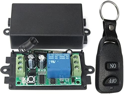 Amazon com: DC 12V 10A Relay 1CH Wireless RF Remote Control
