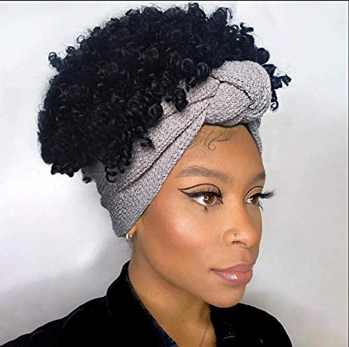 Naseily Hair Short Afro Kinky Curly Head Wrap Hairstyles For Women Synthetic Curly Wrap Wigs For Black Women Short Afro Wigs With Gray Headband J283 Amazon Ca Beauty